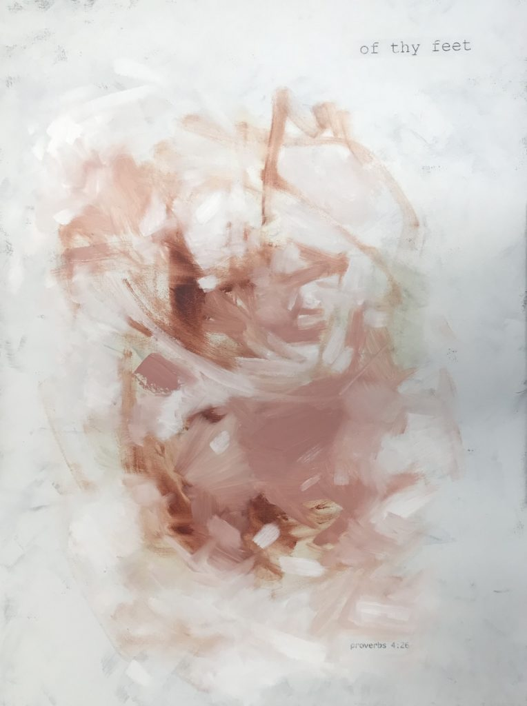 blush abstract painting