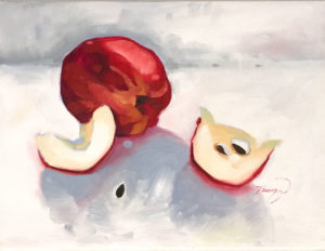 Apple Course Oil Painting Featured